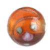 Glass Lamp Bead 8mm Round Dark Topaz/Rose